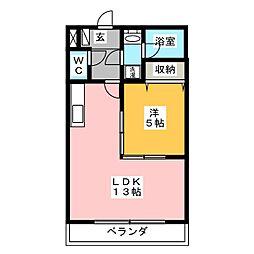 コスモハイツKATOHII[3階]の間取り