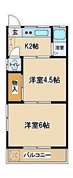 東京都府中市府中町1丁目の賃貸アパートの間取り