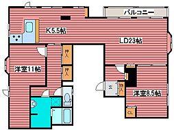 クリスタルハイツ[4階]の間取り