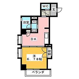 静岡常磐町エンブルコート[3階]の間取り