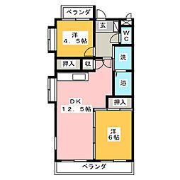 セントラルハイツ星の門[6階]の間取り