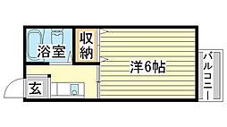 東辻井ハイツ[203号室]の間取り