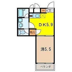 宮原プラザD棟[1階]の間取り
