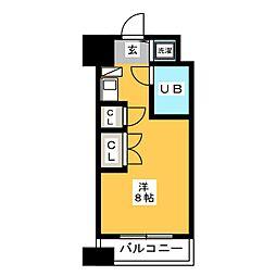 アルファコンフォート博多[2階]の間取り