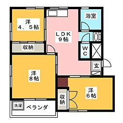 辻広第2ビル[2階]の間取り