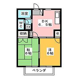 アコール[2階]の間取り