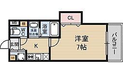リエート東三国[5階]の間取り