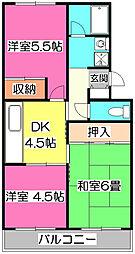 ニューパークマンション[1階]の間取り