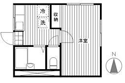 カスカータ高島平[201号室]の間取り