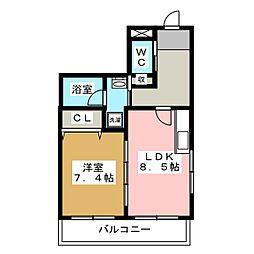 アヴェニール錦町[4階]の間取り