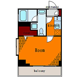リバーレ月島[2階]の間取り