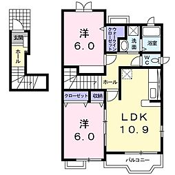 プロムナードII A[2階]の間取り
