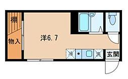 東京都杉並区高円寺北3丁目の賃貸アパートの間取り