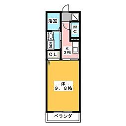 静岡県浜松市中区葵西3の賃貸マンションの間取り