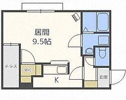 北海道札幌市東区北三十条東16の賃貸マンションの間取り
