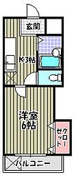 ラフォーレ中之町[4階]の間取り
