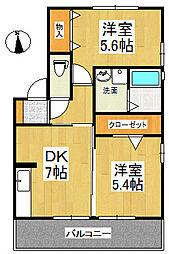 コンフォールハイム A棟[1階]の間取り