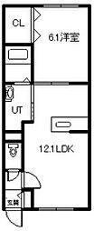 新築 MODE A[106号室]の間取り