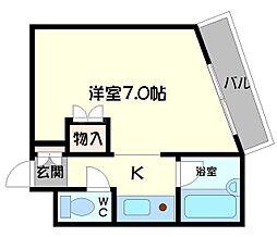 ラトゥール守口[2階]の間取り
