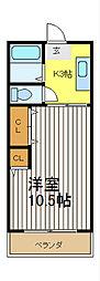 クローバーハウスC[2階]の間取り