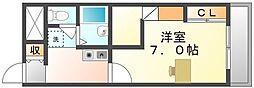 香川県坂出市青葉町の賃貸アパートの間取り
