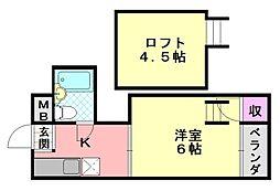 ハイツ正覚寺[405号室]の間取り