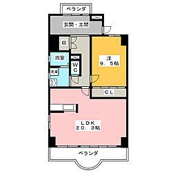 天神山マンション I号館[1階]の間取り