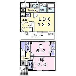 大阪府茨木市橋の内3丁目の賃貸アパートの間取り