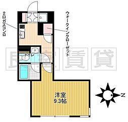 名古屋市営名城線 茶屋ヶ坂駅 徒歩9分の賃貸マンション 1階1Kの間取り