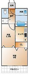 M、Sレジデンス神戸[9階]の間取り