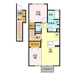 リッツハウスE−AKATSUKA[2階]の間取り