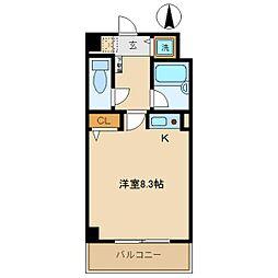 プライムコート武庫之荘[301号室]の間取り