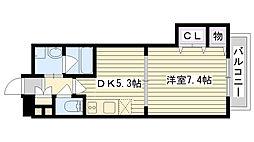 IKカーサ[405号室]の間取り