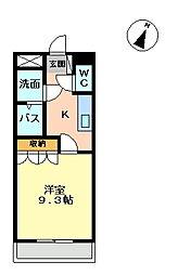 ライトニングフォレスト[1階]の間取り
