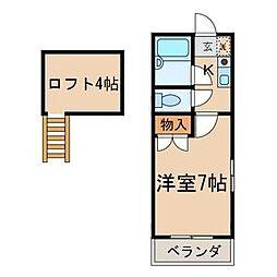 ディアパティオ[2階]の間取り
