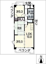 グランドールナカシマ[2階]の間取り