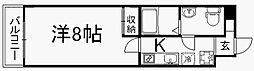 フラッティ壬生坊城 4階1Kの間取り