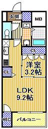 SERENiTE福島scelto[9階]の間取り