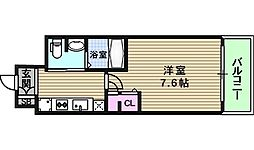 大阪府大阪市東成区中道1丁目の賃貸マンションの間取り