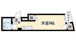 愛知県名古屋市天白区池場2丁目の賃貸マンションの間取り