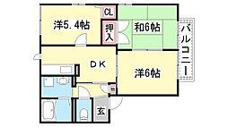 ディアス甲栄台[C202号室]の間取り