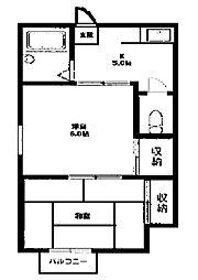 コモド・ヒル2[2階]の間取り