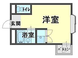 フジコーマンション小松里[1階]の間取り