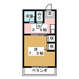 ムーニー野田[1階]の間取り
