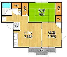 キャピタルハウス1[2階]の間取り