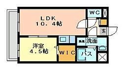 竪町センタービル[601号室]の間取り