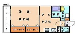福岡県福岡市東区和白4丁目の賃貸マンションの間取り