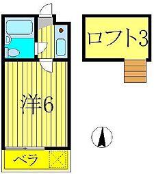 ジュネパレス江戸川台第1[1階]の間取り