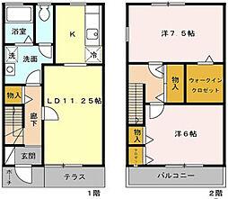 [タウンハウス] 東京都府中市住吉町3丁目 の賃貸【/】の間取り