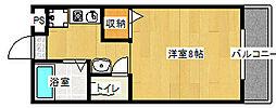 ツインホースII[410号室]の間取り